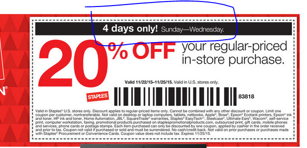 Staples Frienda Family Coupon Code 15